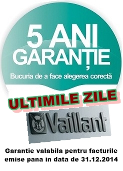 Centrale termice Vaillant 5 ani Garantie