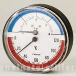 poza Termomanometru axial Cewal Φ 63 6 bar 120 °C