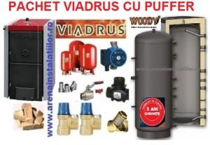 poza Pachet centrala termica pe lemne Viadrus 49 kW cu puffer si accesorii