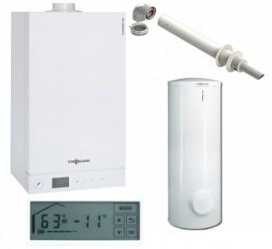 poza Pachet centrale termice in condensatie Viessmann Vitodens 100W 35 kW + Boiler Vitocell 200 L