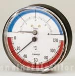 poza Termomanometru axial Cewal Φ 63 4 bar 120 °C
