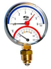 Poza Termomanometru radial Fimet TIRM Φ 80 6 bar