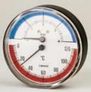 Termomanometru axial Cewal Φ 80 6 bar 120 °C
