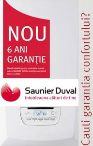 Saunier Duval 6 ani garantie centrale termice