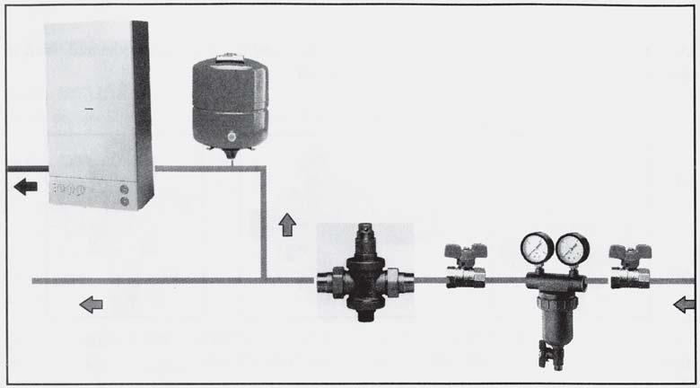 exemplu de montaj Reductor de presiune pt apa EUROBRASS 143 PN25 1/2
