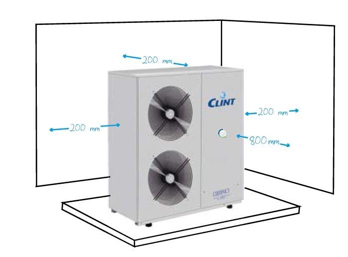Pozitionare chiller Clint CHA/CLK 25