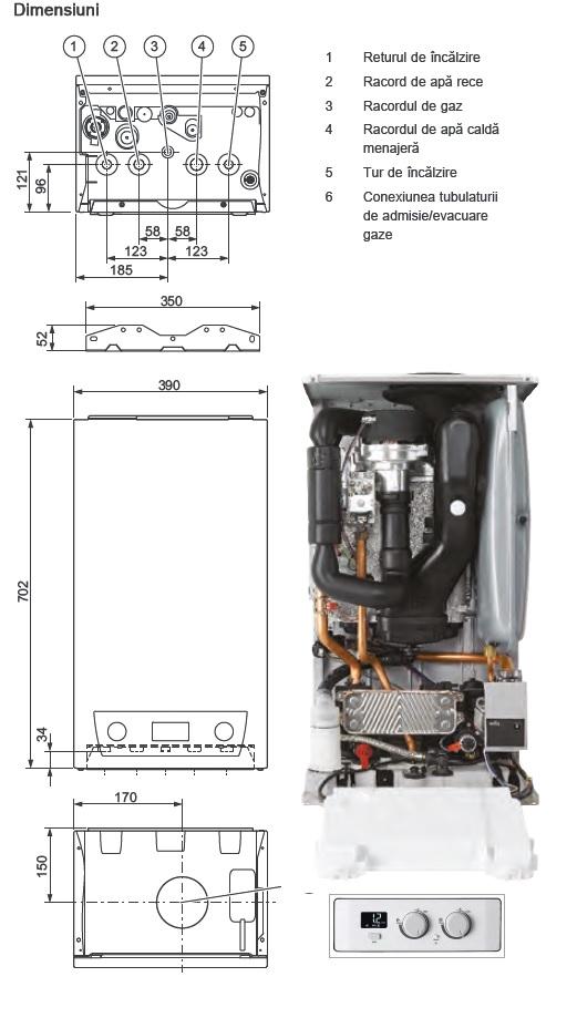 dimensiuni centrala termica lynx