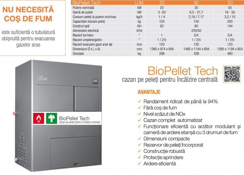 pret Ferroli BioPellet Tech 30 kw