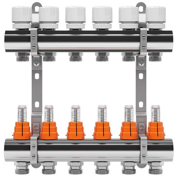 Set distribuitor tur/retur cu debitmetru IVAR 1 x EK - 3 cai
