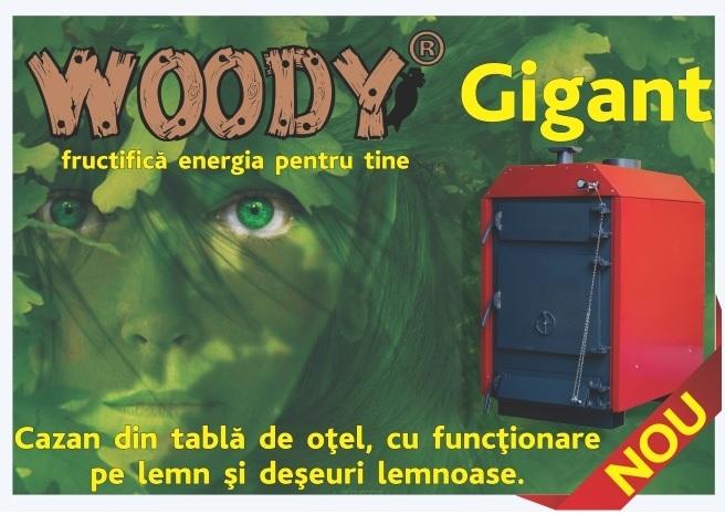 Hoterm Woody Gigant lemn si deseuri lemnoase