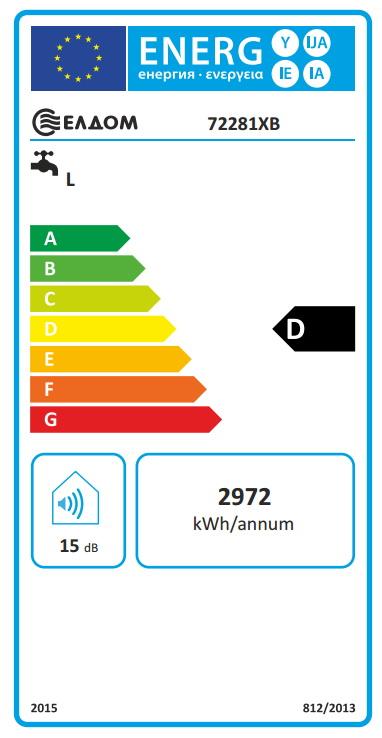 Clasa energetica Boiler termoelectric orizontal ELDOM 200 litri