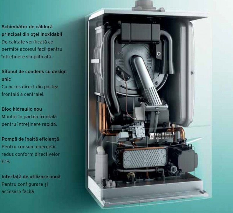 Componente Centrala termica in condensatie VAILLANT ecoTEC pure VUW 286/7-2, 26,1 kW