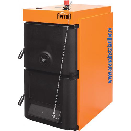 Cazan din fonta pt. combustibil solid lemn/carbune Ferroli SFR Pro 8 - 44/51 kW