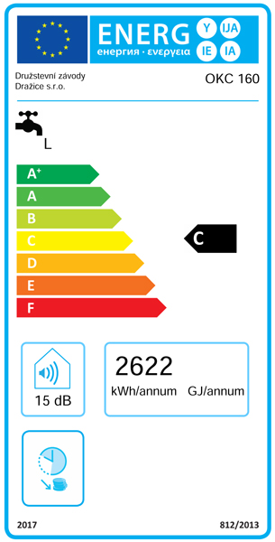 Clasa energetica Boiler termoelectric DRAZICE OKC 160