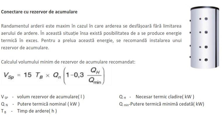 Calculul volumului minim de rezervor de acumulare