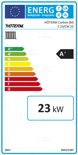 Clasa energetica Cazan pe combustibil solid Hoterm Woody Carbon 23 - 23 kW