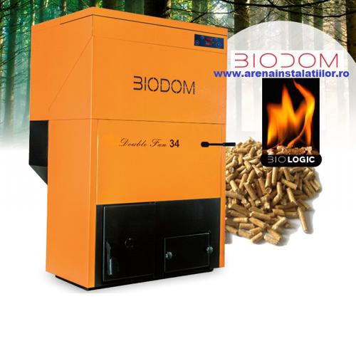 Cazan pe peleti BIODOM DOUBLE FAN 34, 8,6 – 30.8 kW