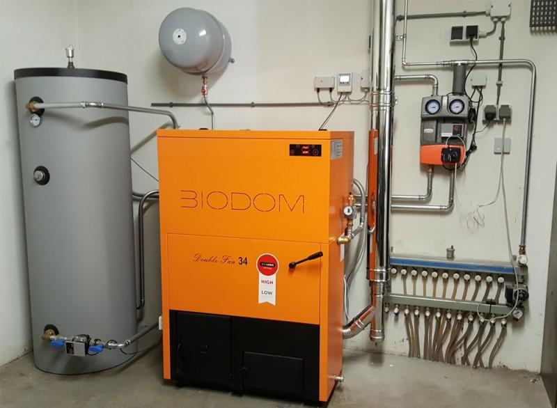 BIODOM DOUBLE FAN 34 cu pompa bypass - 30 kw