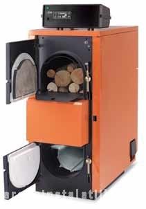 Centrale termice pe lemne cu gazeificare FUEGO FU 29 R INOX - 30 kw