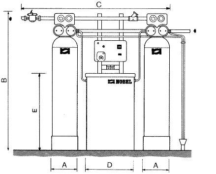 STATIE DEDURIZARE DUPLEX AS 600/V - 4,5 MC/H