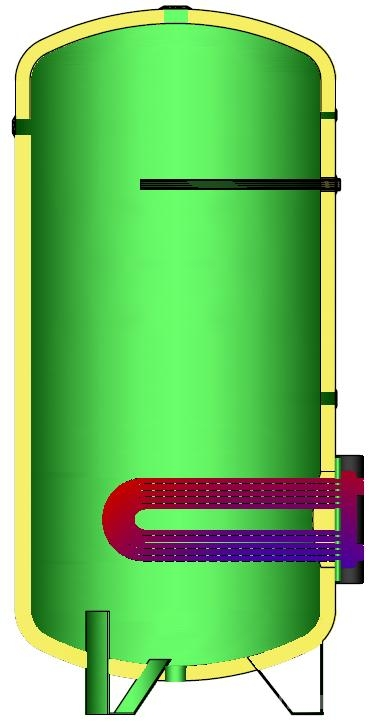 BOILER SOLAR CU SERPENTINA BF-1