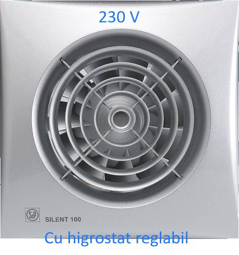 Ventilator baie Soler & Palau SILENT-100CHZ Silver