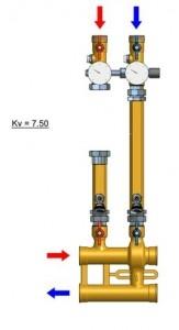 Poza KIT de amestec IVAR VARIMIX de inalta temperatura 1 1/4' - schita