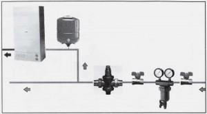 Poza exemplu de montaj Reductor de presiune pt apa EUROBRASS 143 PN25 1/2