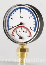 poza Termomanometru radial Cewal Φ 80 6 bar 120 °C