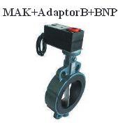 poza Ventil fluture motorizat EBRO MAK 200 cu servomotor BNP 20 C1 - DN 200