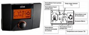 Poza Ecran principal regulator electronic pentru cazane cu combustibil solid Ferroli ECOKOM 200 T