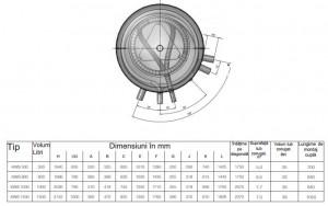 Poza Dimensiuni puffer cu producere de ACM Austria Email KWS 500 W