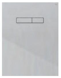 poza Placa superioara TECElux din sticla alba si butoane albe cu actionare mecanica
