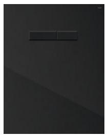 poza Placa superioara TECElux din sticla neagra si butoane negre cu actionare mecanica