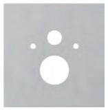 poza Placa inferioara TECElux din sticla alba pentru vas WC standard