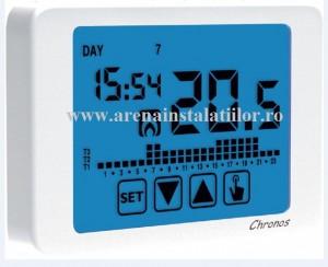 poza Cronotermostat electronic de ambient TIEMME Chronos cu touchscreen