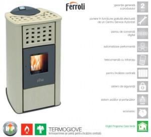 poza Termosemineu peleti FERROLI TERMO GIOVE 23,52 kW