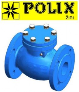 poza Robinet de retinere cu clapa POLIX corp din fonta PN 16 DN 100
