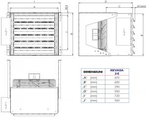 Poza Dimensiuni Aeroterma electrica industriala STAVOKLIMA Nevada 2E - 15 kW