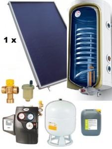 poza Pachet panouri solare plane Helis cu boiler Tesy de 120 l pentru 1-2 persoane