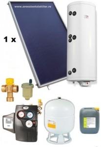 poza Pachet panouri solare plane Helis cu boiler Eldom de 120 l pentru 1-2 persoane