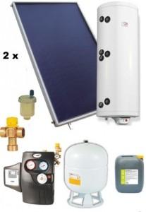 poza Pachet panouri solare plane Helis cu boiler Eldom de 200 l pentru 3-4 persoane