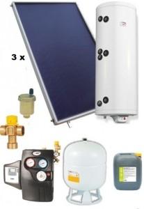 poza Pachet panouri solare plane Helis cu boiler Eldom de 300 l pentru 4-6 persoane