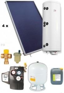 poza Pachet panouri solare plane Helis cu boiler Eldom de 500 l pentru 6-8 persoane