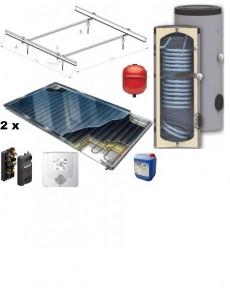poza Pachet panouri solare plane Thermosolar cu boiler Woody de 200 l pentru 2 - 4 persoane
