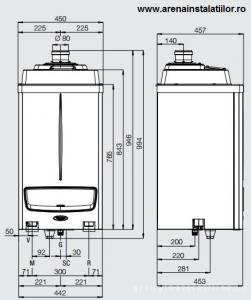 Poza Dimensiuni Centrale termice in condensatie IMMERGAS VICTRIX PRO 55 ErP