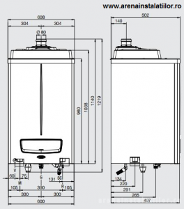 Poza Dimensiuni Centrale termice in condensatie IMMERGAS VICTRIX PRO 80 ErP