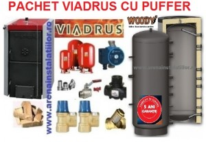 poza Pachet centrala termica pe lemne Viadrus 25 kW cu puffer si accesorii