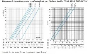 Poza diagrama regulatoare de gaz FG1B 25