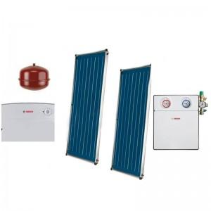 poza Pachet panouri solare Bosch 2 FCC220-2V + ISM 1 acoperis plan